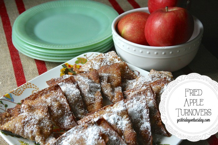 Delicious Fried Apple Turnover Recipe from http://yesterdayontuesday.com #appleturnover #applerecipes