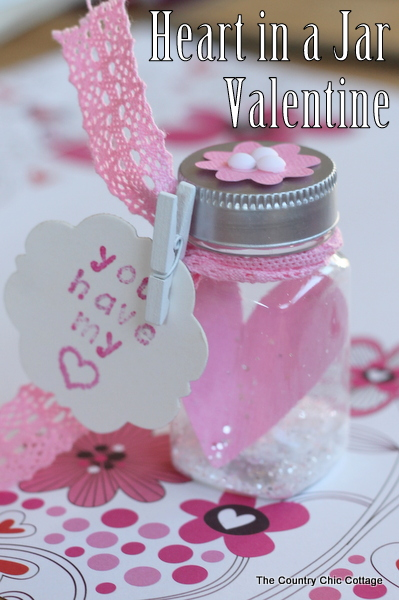 Heart in a Jar Valentine from The Country Chic Cottage