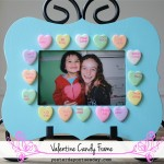 Valentine Candy Frame, an easy kid's craft gift idea from https://yesterdayontuesday.com