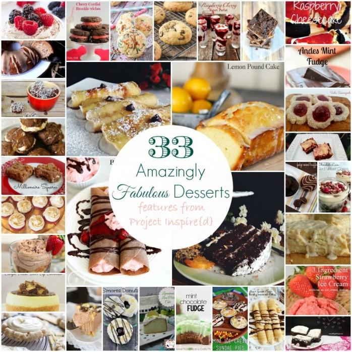 33 Fabulous Dessert ideas, shared at Project Inspire{d}
