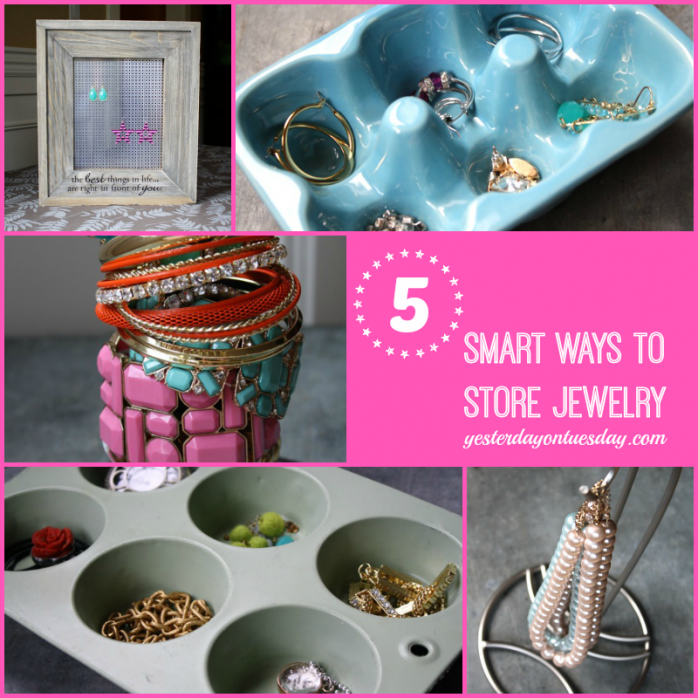 5 Smart Ways to Store Jewelry #organizing