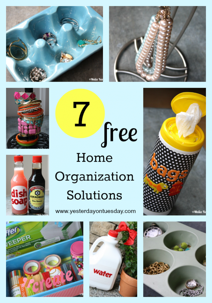From trash to treasure, use stuff you'd toss to get organized for FREE #organizing #frugal