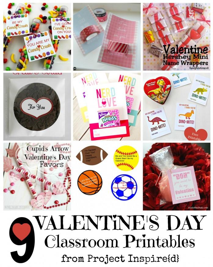 Printable Classroom Valentineis
