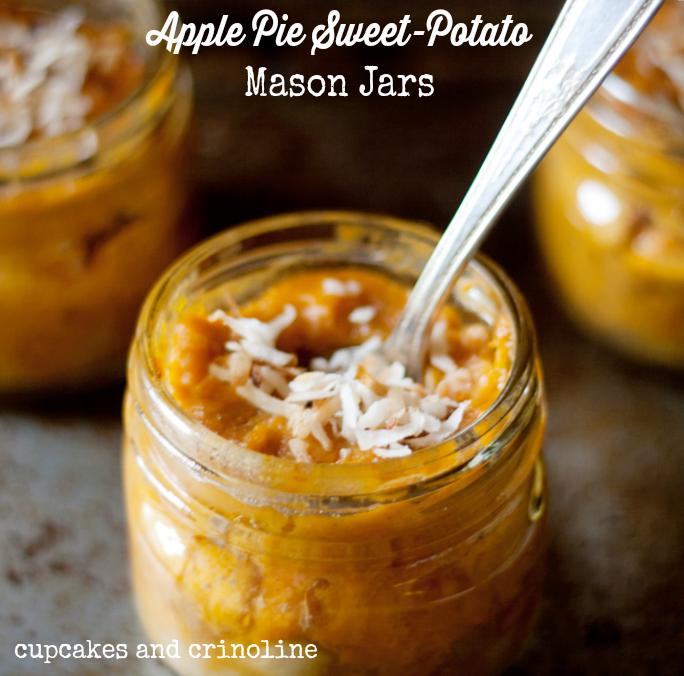 Apple Pie Sweet Potato Dessert in Mason Jars from Cupcakes and Crinoline