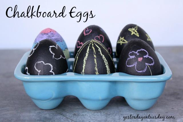 Chalkboard Eggs for Easter