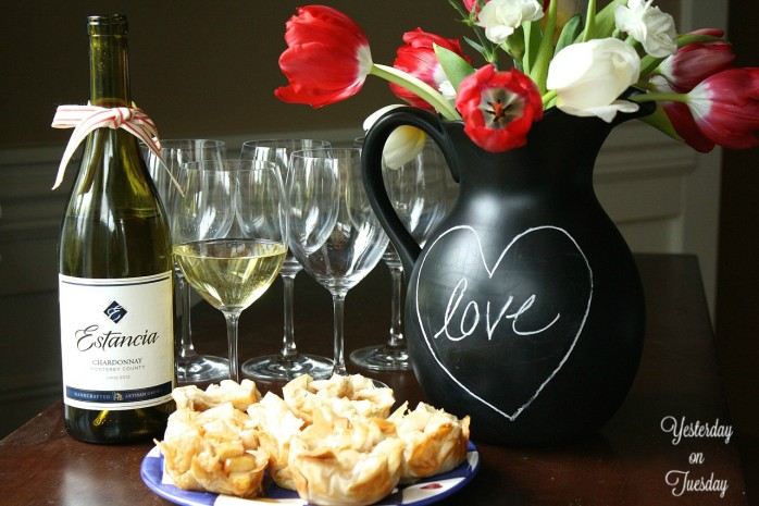 Perfect wine and food  pairings and a recipe for Valentine's Day Entertaining