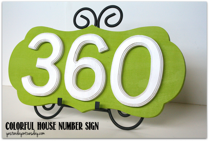 Dial Up your home's curb appeal with a colorful house number sign