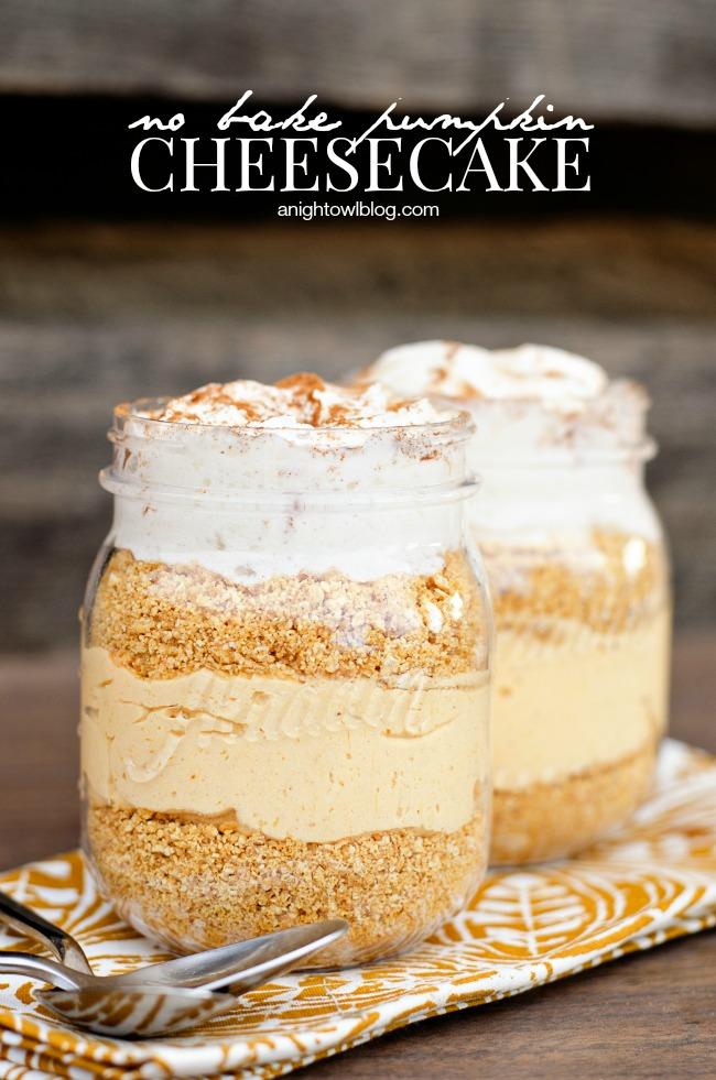 No Bake Pumpkin Cheesecake Parfaits from a Night Owl Blog