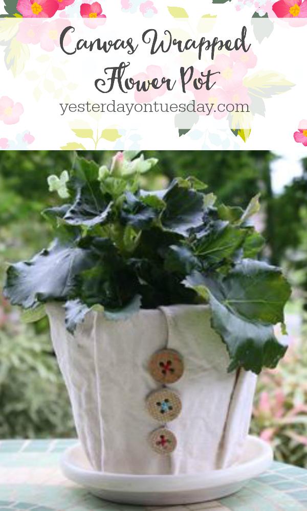 Canvas Flower Pot