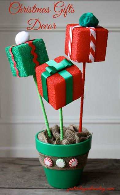 Flower Pot Christmas Decor