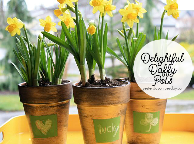 Gold Flower Pots