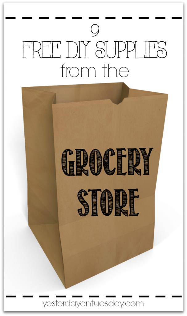 Nine FREE DIY Supplies you can score at the grocery store! Talk about a deal!