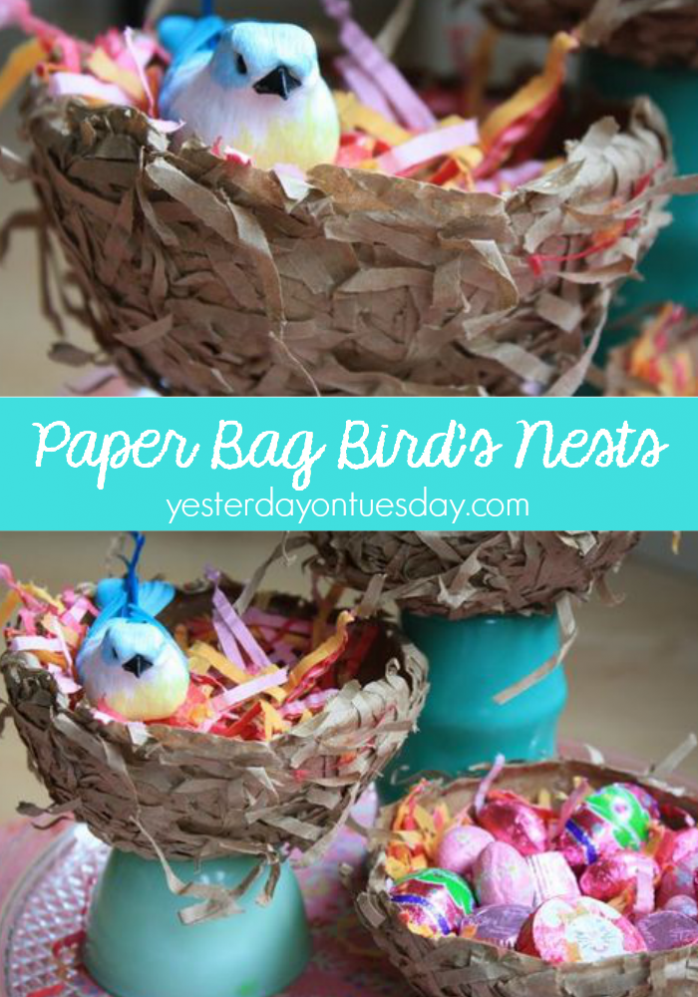 Paper Bag Bird's Nest