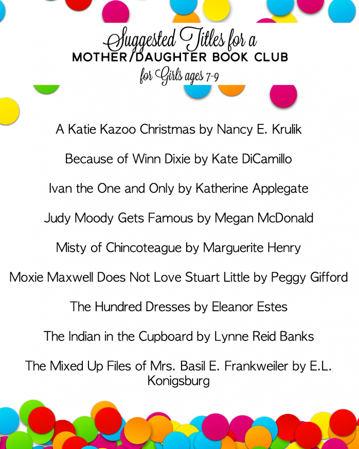Mother/Daughter Book Club Titles