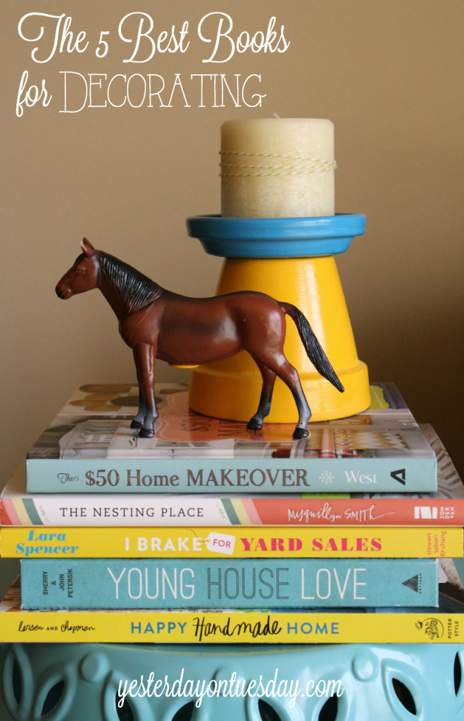 A collection of very inspiring decorating books, full of amazing ideas for your home