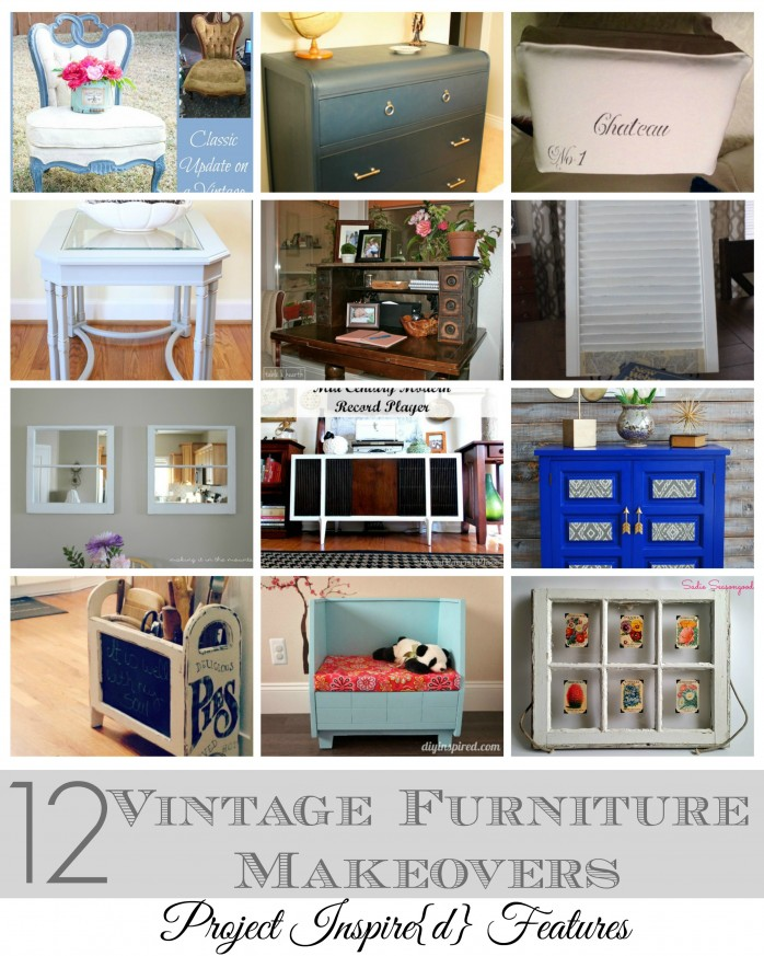 12 Vintage Furniture Makeovers featured at Project Inspire{d}