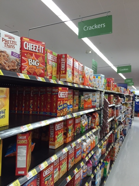 Aisle with Cheez-Its