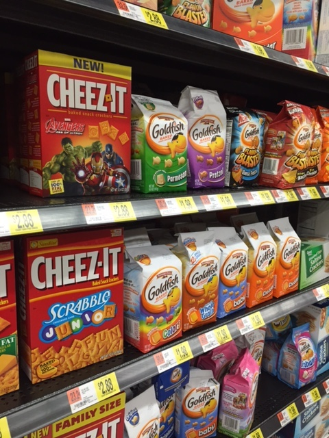 Avengers Cheez-Its on Shelf
