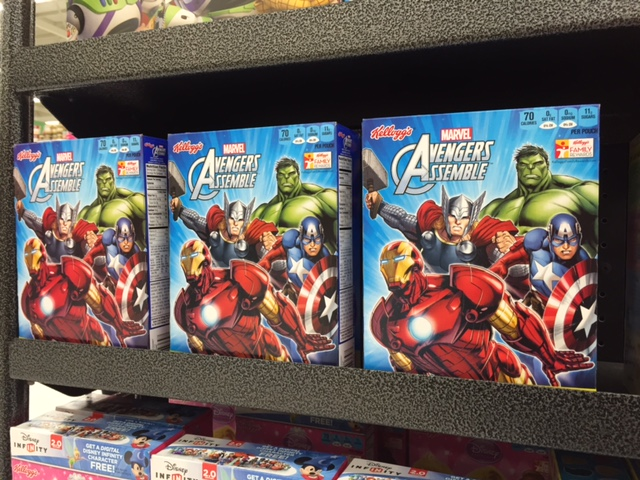 Avengers Fruit Snacks on Shelf