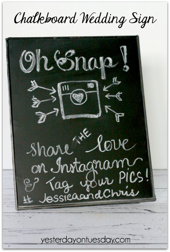 Chalkboard Wedding Sign, a wonderful addition to your wedding and reception.
