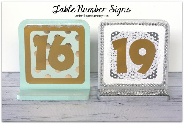 DIY Table Numbers