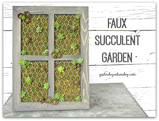 How to make a stylish Faux Succulent Garden