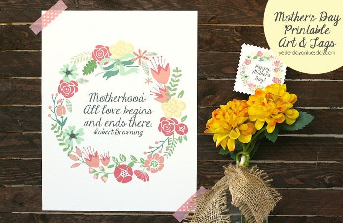 Mother's Day Art and Tags