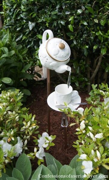 Teapot in Garden