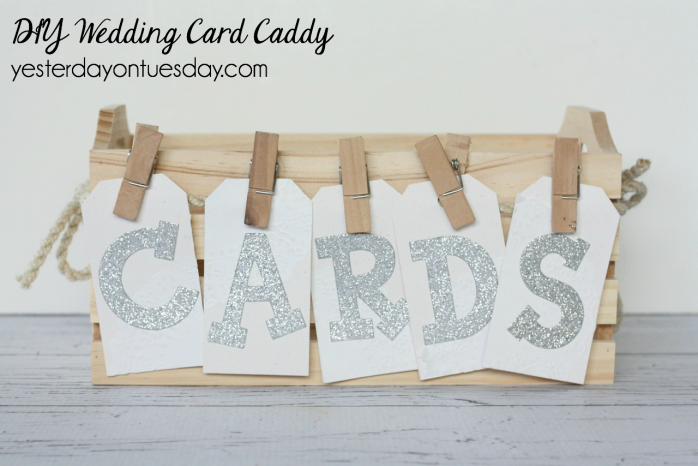 DIY Wedding Card Caddy, a simple and lovely place for wedding cards