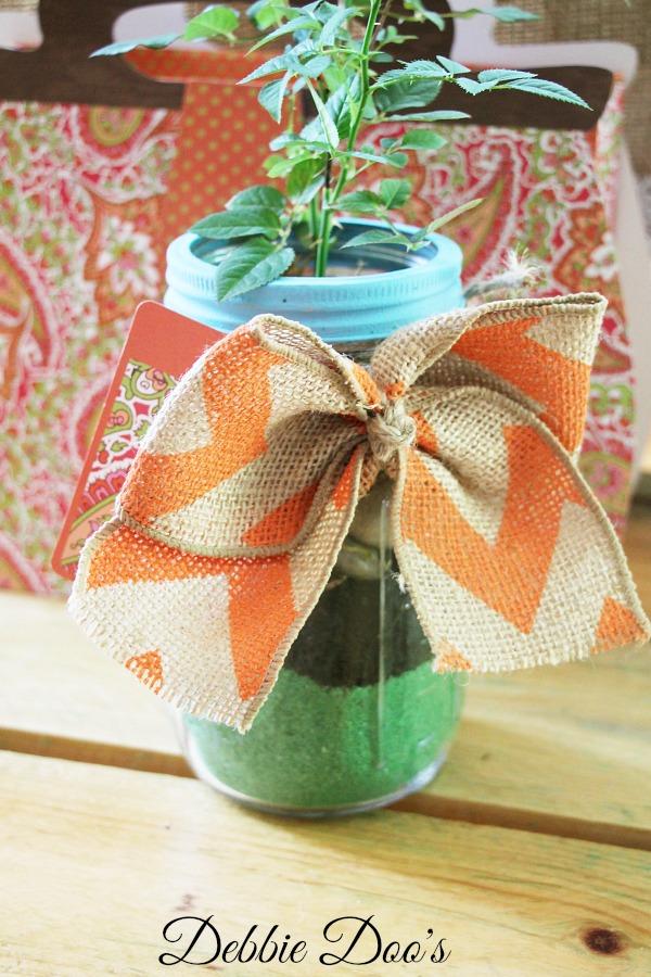 Mason Jar Terrarium from Debbiedoo's