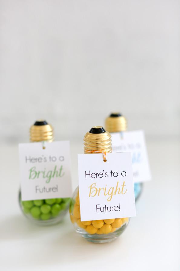 Bright Future Takeaways, a fun grad party idea.