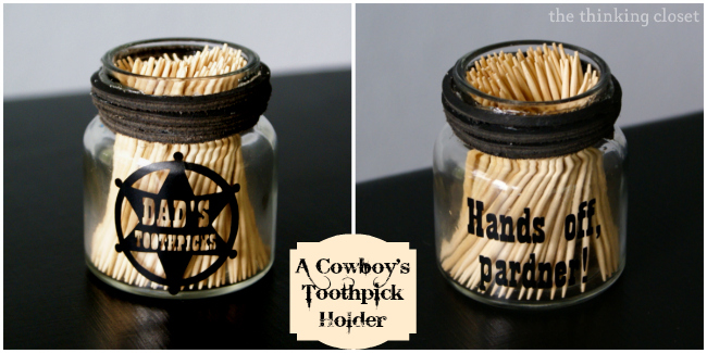 Dad's Toothpick Holder Gift