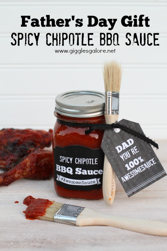 Father's Day Spicy BBQ Sauce Gift