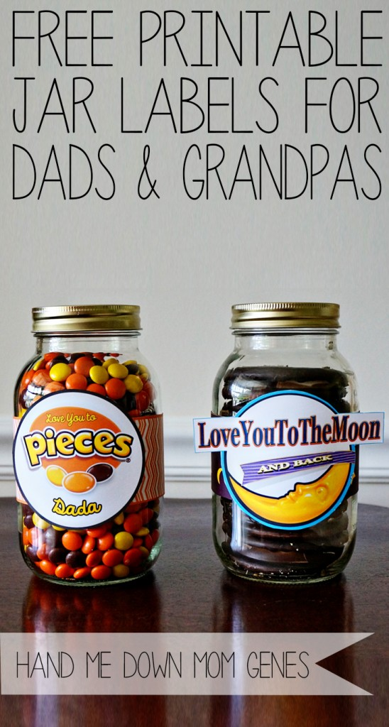 Free Printable Jar Labels from Dads and Grandpas