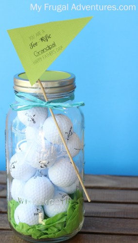 Mason Jar Golf Gift for Father's Day