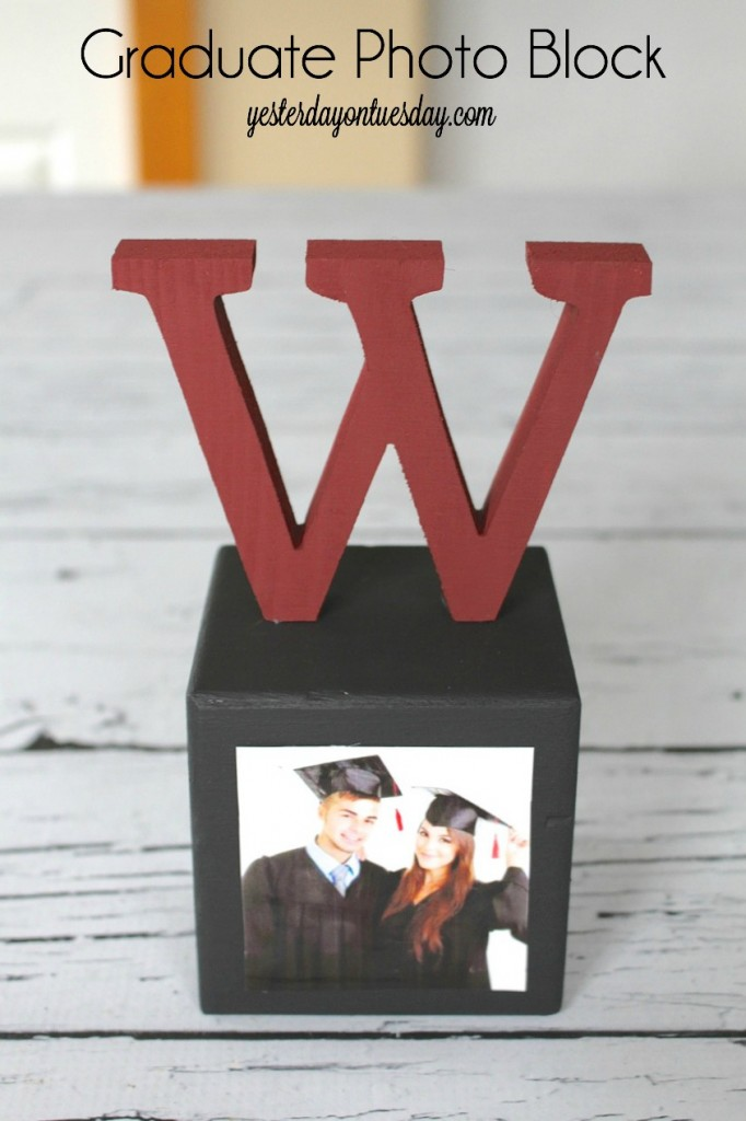Make a sweet keepsake for your grad with this Graduate Photo Block