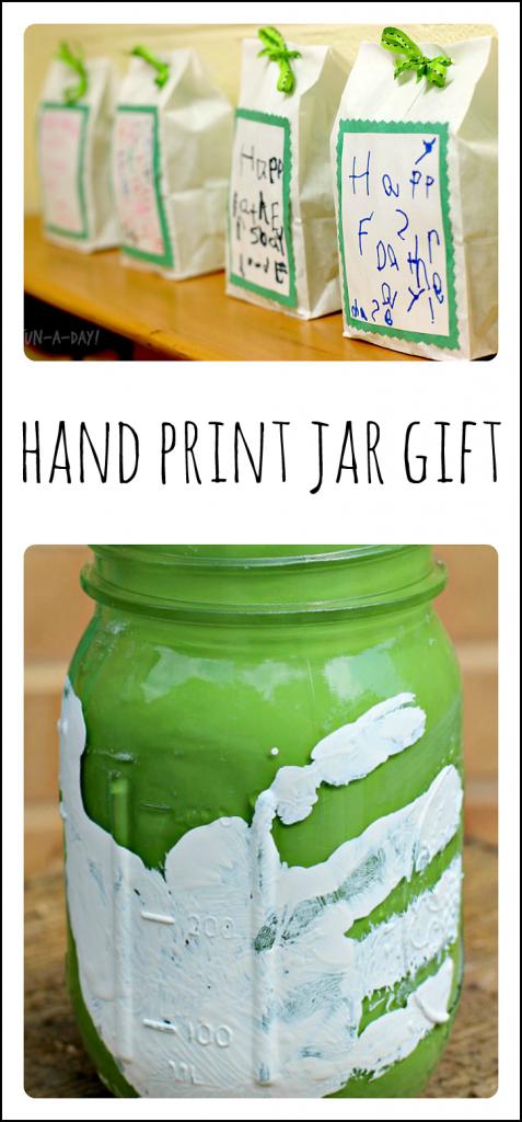 Hand Print Jar Gift for Kids