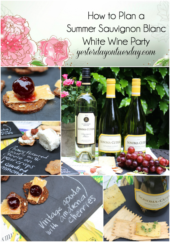 How to Plan a Summer Sauvignon Blanc White Wine Party including appetizer ideas!