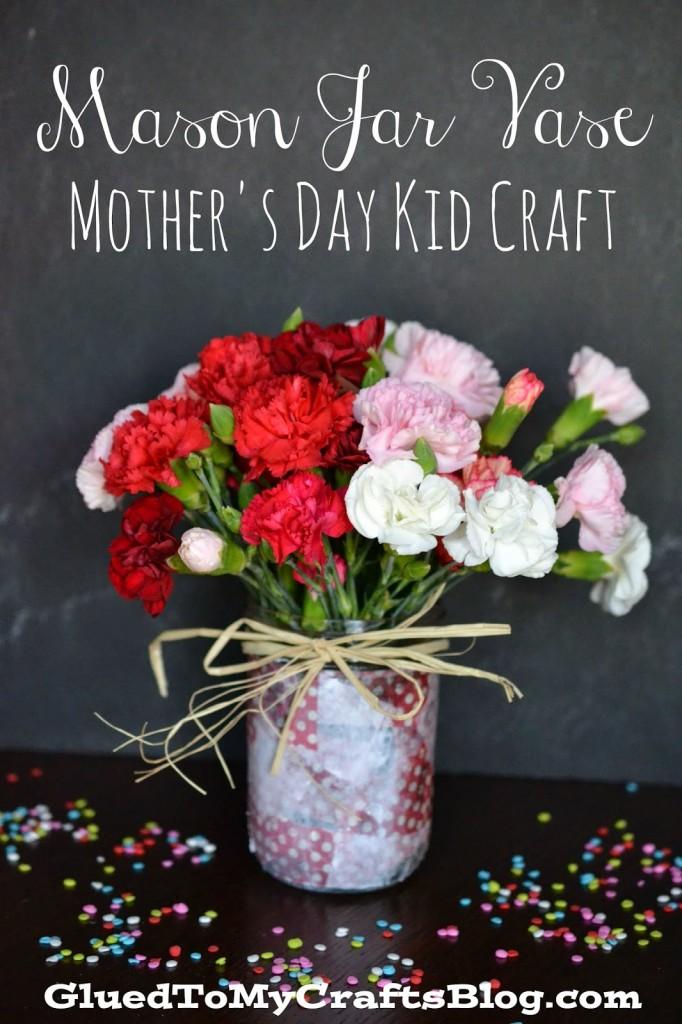 Mason Jar Vase from Glued to My Crafts