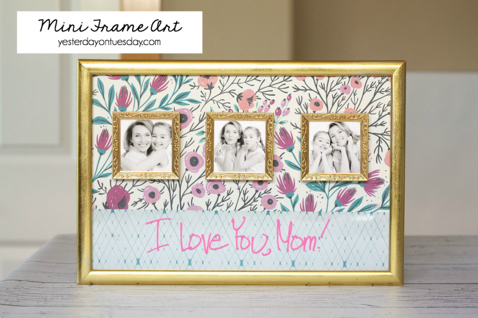 DIY Mini Frame Art, a thoughtful Mother's Day or Father's Day gift idea.