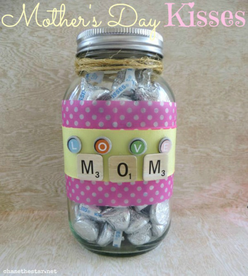 Mother's Day Kisses Jar Gift