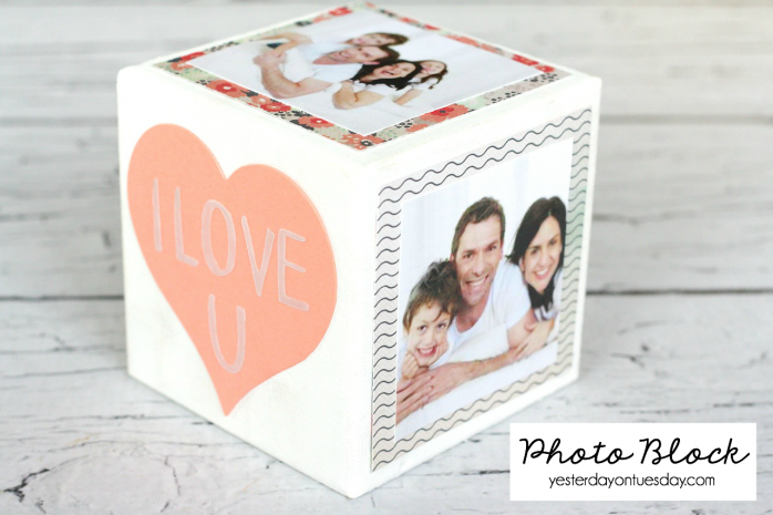 DIY Photo Block a great gift for Mother's Day