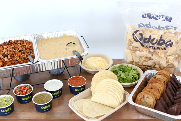 How to Throw a Great Graduation Party with fun ideas like ordering a buffet from Qdoba.