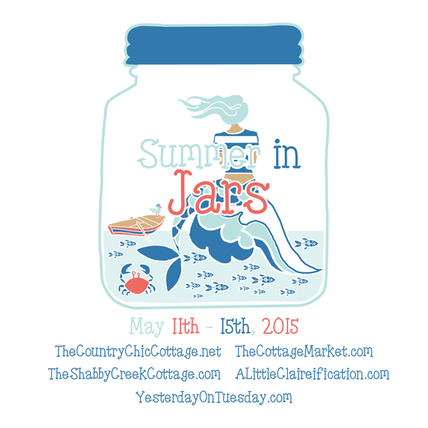 Summer in Jars Event featuring twenty five sizzling summer crafts and decor ideas from some of your favorite bloggers!