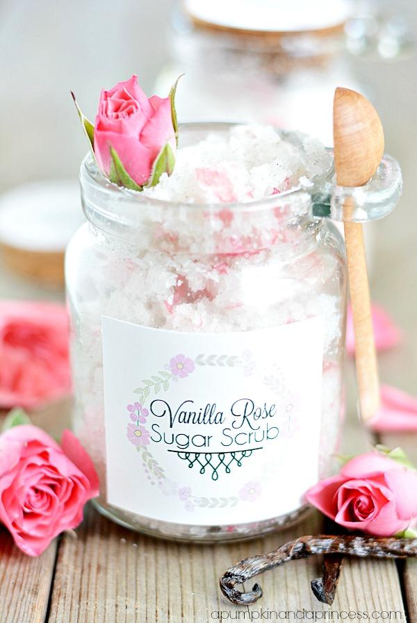 Vanilla Rose Sugar Scrub from A Pumpkin and a Princess