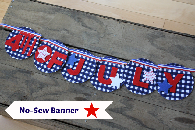 How to make a new sew 4th of July banner