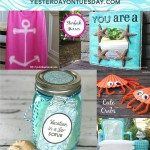 A Dozen Beautiful Beachy Ideas for crafts, home decor, gifts and more.