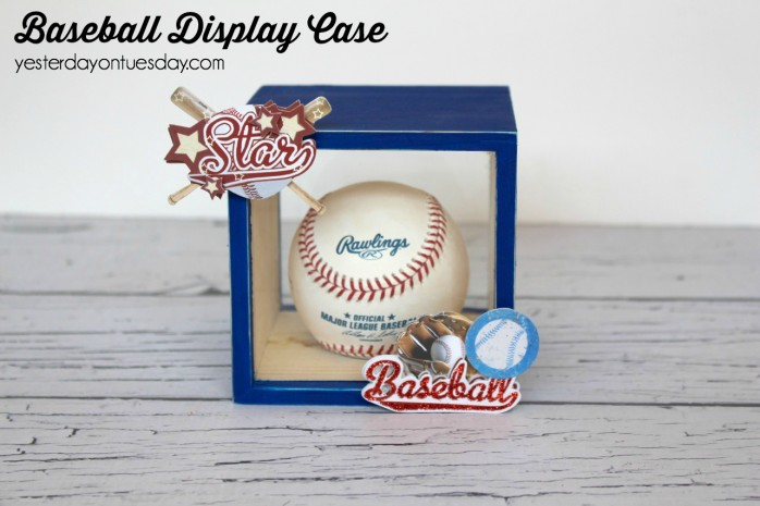 How to transform a wooden box into a Baseball display Case, great Father's Day Gift for Dad.
