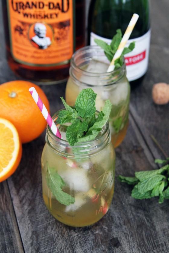 Citrus and Mint Bourbon Sparkler