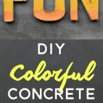 Create colorful FUN concrete letters with @decoart Patio Paint